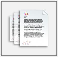 Primer dopisnih listov - digitalni tisk
