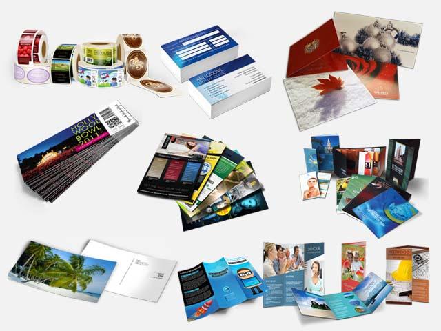 Slika različnih izdelkov, ki jih nudi tiskarna v Novem mestu